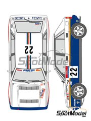 Shunko Models: Marking / livery 1/24 scale - Lancia Delta HF Integrale 16v Rothmans #22 - Patrick Bernardini (FR) + P. Dran (FR) - Tour de Corse 1990 - water slide decals and assembly instructions - for Hasegawa kits 20289, 20289, HACR08 and HACR08, or Italeri kits ITA3689 and ITA3689