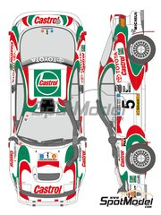 Shunko Models: Marking / livery 1/24 scale - Toyota Celica GT-Four Castrol #1, 2, 3, 5 - Juha Kankkunen (FI) + Juha Piironen (FI), Markku Alén (FI) + Ilkka Kivimäki (FI), Ian Duncan (KE) + Ian Munro (KE), Yasuhiro Iwase (JP) + Sudhir Vinayak (KE) - Safari Rally 1993 - water slide decals and assembly instructions - for Tamiya references TAM24119 and 24119