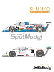 Shunko Models: Marking / livery 1/24 scale - Toyota 88C Minolta #36 - 24 Hours Le Mans 1987 - water slide decals and assembly instructions - for Hasegawa reference CC-5