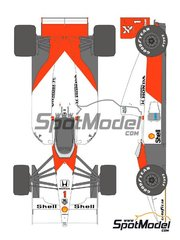 Shunko Models: Marking / livery 1/20 scale - McLaren Honda MP4/6 Marlboro #1, 2 - Ayrton Senna (BR), Gerhard Berger (AT) - Japanese Formula 1 Grand Prix 1991 - water slide decals and assembly instructions - for Fujimi references FJ09044, 09044, GP10, 090443, FJ090443, FJ090443, 09044, GP10, 090443, FJ09044, FJ092133, 092133, 09213, FJ09213 and FUJ09213