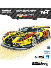 SimilR: Model car kit 1/24 scale - Ford GT40 GT1 Belgian Racing #9 - Alexandre Leclerc (FR) + Vanina Ickx (BE) + Christoffer Nygaard (DK) + Yann Clairay (FR) - 24 Hours Le Mans 2011 - plastic model kit