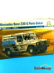SpotModel: Model car kit 1/24 scale - Italeri - Mercedes Benz 230 G #251 - Dakar Rally 1982 image