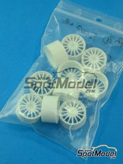 SpotModel: Upgrade 1/24 scale - SimilR - Ford Focus WRC rims - 10 units