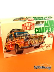 SpotModel: Model car kit 1/16 scale - LS - Austin Mini Cooper Mk II Rally - Montecarlo Rally