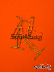 SpotModel: Seatbelts 1/43 scale - 4 point seatbelt - photo-etched parts - 4 units