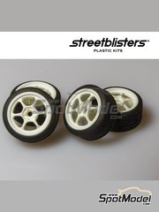 StreetBlisters: Rims and tyres set 1/24 scale - SB-RG - plastic parts, rubber parts and other materials - 4 units