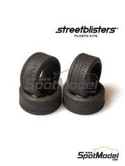 StreetBlisters: Tyre set 1/24 scale - SB-TIR - rubber parts - 4 units