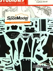 Studio27: Carbon fibre pattern decal 1/12 scale - Yamaha YZR-M1 - World Championship 2009 - Carbon pattern decal - for Tamiya kits TAM14117 and TAM14120 image