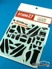 Studio27: Carbon fibre pattern decal 1/12 scale - Ducati Desmosedici - Motorcycle World Championship 2004 - water slide decals - for Tamiya references TAM14101, 14101, TAM14103 and 14103