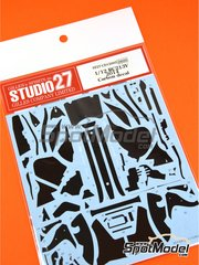 Studio27: Carbon fibre pattern decal 1/12 scale - Honda RC213V - Marc Márquez (ES) - World Championship 2014 - water slide decals and assembly instructions - for Tamiya kit TAM14130