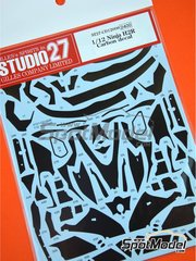 Studio27: Carbon fibre pattern decal 1/12 scale - Kawasaki Ninja H2R - water slide decals and assembly instructions - for Tamiya reference TAM14131