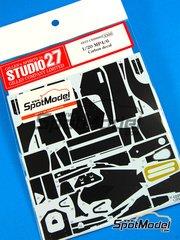 Studio27: Carbon fibre pattern decal 1/20 scale - McLaren Honda MP4/6 Marlboro #1, 2 - Ayrton Senna (BR), Gerhard Berger (AT) - World Championship 1991 - for Fujimi references FJ09044, FJ090443, FJ090818, FJ091693 and FJ09173