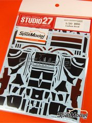 Studio27: Carbon fibre pattern decal 1/20 scale - RB Racing Renault RB6 - World Championship - for Tamiya kit TAM20067