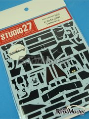 Studio27: Carbon fibre pattern decal 1/20 scale - Ferrari F1 2000 - for Tamiya reference TAM20048