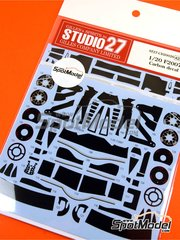 Studio27: Carbon fibre pattern decal 1/20 scale - Ferrari F2007 - for Fujimi references FJ090481, 090481, 09048, GP-11, FJ091006, 091006, 09100 and GP-42