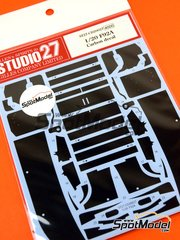 Studio27: Carbon fibre pattern decal 1/20 scale - Ferrari F92A 1992 - for Fujimi kit FJ090542