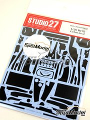 Studio27: Carbon fibre pattern decal 1/20 scale - Benetton Ford B192 - World Championship 1992 - for Tamiya kit TAM20036
