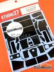 Studio27: Carbon fibre pattern decal 1/20 scale - Lotus Renault 97T - for Fujimi kits FJ09064, FJ090641, FJ09074, FJ090740, FJ09083, FJ091457 and FJ091877
