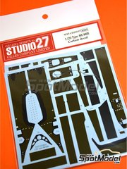 Studio27: Carbon fibre pattern decal 1/20 scale - Lotus Ford Type 88 - water slide decals and assembly instructions - for Ebbro reference EBR20011