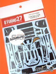 Studio27: Carbon fibre pattern decal 1/20 scale - Lotus Judd 102B - water slide decals and assembly instructions - for Tamiya kit TAM20030