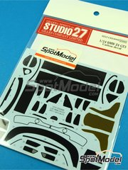 Studio27: Carbon fibre pattern decal 1/24 scale - BMW Z4 GT3 - water slide decals and assembly instructions - for Fujimi kit image