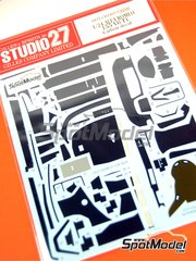 Studio27: Carbon fibre pattern decal 1/24 scale - Alfa Romeo 155 V6 TI - DTM 1993 and 1994 - for Tamiya references TAM24137, TAM24148 and TAM96356
