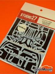Studio27: Carbon fibre pattern decal 1/24 scale - Porsche Carrera GT - for Tamiya references TAM24275 and 24275 image