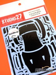 Studio27: Carbon fibre pattern decal 1/24 scale - Nissan GT-R R35 - for Tamiya kit TAM24300