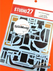 Studio27: Carbon fibre pattern decal 1/24 scale - Mazda 787B - for Tamiya references TAM24112 and TAM24326
