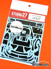 Studio27: Carbon fibre pattern decal 1/24 scale - Mercedes Benz AMG GT3 - water slide decals and assembly instructions - for Tamiya references TAM24345 and 24345