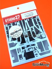 Studio27: Carbon fibre pattern decal 1/24 scale - Jaguar XJR-9 - water slide decals and assembly instructions - for Tamiya references TAM24084 and 24084
