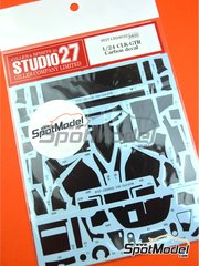 Studio27: Carbon fibre pattern decal 1/24 scale - Mercedes CLK-GTR - water slide decals and assembly instructions - for Tamiya references TAM24195, 24195, TAM24201, 24201, TAM24206, 24206, TAM24214 and 24214 image