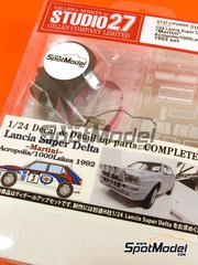 Studio27: Transkit 1/24 scale - Lancia Super Delta Deltona HF Integrale Martini #3 - Juha Kankkunen (FI) + Juha Piironen (FI) - Acropolis rally, 1000 Lakes Finland Rally 1992 - metal parts, photo-etched parts and decals - for Hasegawa references 25015, CR-15, HACR13, 25076, CR-116, HACR15, 25015 and CR-15