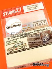 Studio27: Transkit 1/24 scale - Lancia Super Delta Deltona HF Integrale Astra #12 - Portugal Rally 1993 - for Hasegawa references 25015, CR-15, HACR13, 25076, CR-116, HACR15, 25015 and CR-15