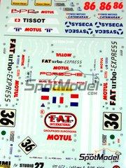 Studio27: Marking / livery 1/24 scale - Porsche 911 GT2 FAT #36 - Jean-Pierre Jarier (FR) + Erik Comas (FR) + Jesús Pareja (ES) - 24 Hours Le Mans 1995