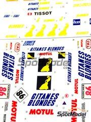 Studio27: Marking / livery 1/24 scale - Porsche 911 GT2 Gitanes #86 - Robert 'Bob' Wollek (FR) + Jean-Pierre Jarier (FR) + Christophe Bouchut (FR) - 1000 Km Suzuka 1995