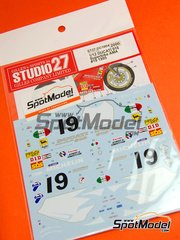 Studio27: Decals 1/12 scale - Ducati 916 Superbike Michelin #19 - Freddie Spencer (US) - Australian Grand Prix 1995 - for Tamiya kit