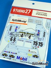 Studio27: Decals 1/24 scale - Toyota Celica GT-Four ST165 Mobil Rasta #4 - Mats Jonsson (SE) + Lars Bäckman (SE) - Svezia Sweden Rally 1989, 1991 and 1992 - for Beemax Model Kits references B24001 and Aoshima 081198