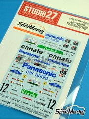Studio27: Marking / livery 1/24 scale - Ferrari 308 GTB Panasonic #12 - Massimo de Antoni (IT) + Tonino Tognana (IT) - Targa Florio 1982 - water slide decals and assembly instructions - for Revell references REV07302 and REV07316