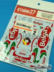 Studio27: Decals 1/24 scale - Toyota Celica GT-Four WRC Belga #2 - Francois Chatriot (FR) - Boucles de SPA 1994 - for Tamiya reference TAM24125 image