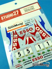 Studio27: Decals 1/24 scale - Toyota Celica GT-Four WRC Esso #1, 5 - Piero Longhi (IT) + Fabrizia Pons (IT) - Rally del Ciocco e Valle del Serchio 1994 - for Tamiya reference TAM24125 image