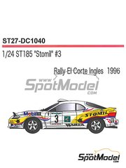 Studio27: Marking / livery 1/24 scale - Toyota Celica GT-Four WRC Stomil #3 - Krzysztof Holowczyc (PL) + Maciej Wislawski (PL) - El Corte Ingles Rally  1996 - water slide decals and assembly instructions - for Tamiya reference TAM24125