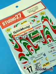 Studio27: Marking / livery 1/24 scale - Toyota Celica GT-Four WRC Castrol #17 - Marcus Grönholm (FI) + Voitto Silander (FI) - Svezia Sweden Rally 1995 - water slide decals and assembly instructions - for Tamiya reference TAM24125