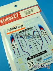Studio27: Marking / livery 1/24 scale - BMW Z4 GT3 Roal Motorsport #33 - Alessandro 'Alex' Zanardi (IT) - GT FIA World Championship 2014 - water slide decals and assembly instructions - for Fujimi references FJ12556, FJ125565, FJ12568, FJ125688, FJ125763, FJ125770, FJ12593, FJ125930, FJ126081 and FJ12612