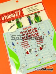 Studio27: Marking / livery 1/20 scale - Jordan Ford J191 7Up Pepsi Fujifilm #32, 33 - Andrea de Cesaris (IT), Michael Schumacher (DE) - FIA Formula 1 World Championship 1991 - water slide decals and assembly instructions - for Tamiya references TAM20032 and 20032 image