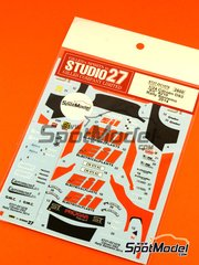 Studio27: Decals 1/24 scale - Citroen DS3 WRC EIL #210 - Rudy Michelini (IT) + Nicola Angilletta (IT) - Sanremo Rally 2014 - for Heller references 80757 and 80758 image