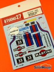 Studio27: Marking 1/24 scale - Mercedes Benz SLS AMG GT3 Martini #33 - Peter Schmidt (DE) + Christian Bracke (DE) + Mirco Schultis (DE) + Renger van der Zande (NL) - 12 Hours Zandvoort 2014 - for Fujimi kits FJ125657 and FJ125695