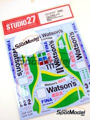Studio27: Marking 1/24 scale - BMW 318i Watson's #1 - Emanuele Pirro (IT), Steve Soper (GB), Joachim Winkelhock (DE) - Guia Race of Macau 1993 - water slide decals and assembly instructions - for Hasegawa kits 20269 and 20270