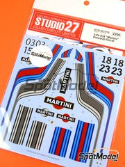 Studio27: Marking / livery 1/24 scale - Porsche 918 Spyder Martini #03, 15, 18, 23 - water slide decals and assembly instructions - for Revell references REV07026 and REV07027
