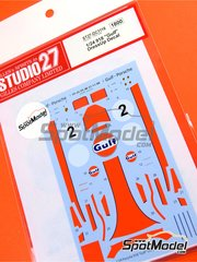 Studio27: Marking / livery 1/24 scale - Porsche 918 Spyder Gulf #2 - water slide decals and assembly instructions - for Revell references REV07026 and REV07027